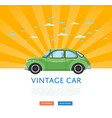 website design with classic retro car vector image