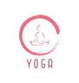 yoga logo with zen icon design vector image