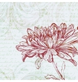 Grungy retro background with chrysanthemum flower vector image vector image