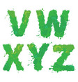 v w x y z handdrawn english alphabet - vector image vector image