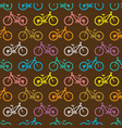 retro bike seamless pattern vector image