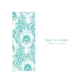 Soft peacock feathers horizontal frame seamless vector image vector image