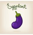 cute hand drawn shiny eggplant vector image vector image