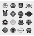 set of black and white retro labels vector image vector image