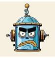 emoticon angry emoji robot head smiley emotion vector image