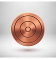 Bronze Technology Circle Metal Badge vector image vector image