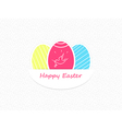 Easter eggs Easter eggs icons flat style Easter vector image