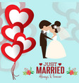 lovely sweet couple wedding vector image