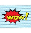 pop art style sticker vector image