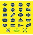 Set brazilian badges vector image