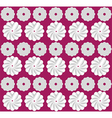 White flowers on pink background pattern vector image