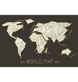 World Map Made From Safety Matches vector image