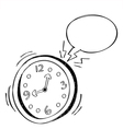 Alarm Clock Bubble Speech vector image vector image