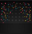 confetti in dark background vector image