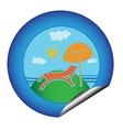 vacation sticker vector image vector image