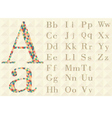 Alphabet of geometric shapes vector image