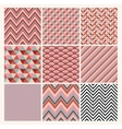 Seamless geometric hipster background set vector image