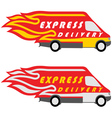 Express Delivery Symbols Yellow-Red and vector image