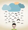 Rain mustache vector image vector image