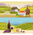 Mountain Landscape Banner vector image