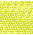 Yellow green ornamental geometric background vector image