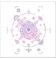 Colorful line geometric futuristic badge design vector image