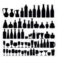 beverage and glass icons vector image