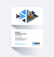 business card template with moving vector image