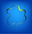 Contour of a womans face1 vector image