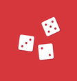 dice cubes on red vector image