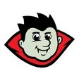 Dracula Head Halloween Cartoon vector image