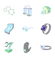 Innovation icons set cartoon style vector image