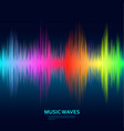 music waves background rainbow sound music vector image