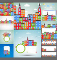 set of color city backgrounds vector image