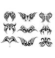 Set of tribal art tattoo vector image