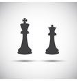 Simple icons chess pieces vector image