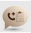 Medical consultration sign Brown gradient icon on vector image