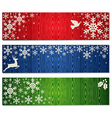 Christmas snowflakes banner backgrounds set vector image