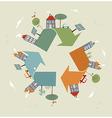 World recycle symbol sketch vector image