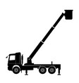 boom lift truck vector image