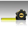 1109steel tape ruler vector image