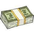 stack of banknotes vector image vector image