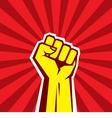 Hand Up Proletarian Revolution - vector image