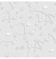 Tech grey paper seamless design vector image