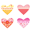 ornamental colorful hearts vector image vector image