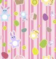 easter bunnies vector image