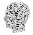 Chronic bronchitis treatment text background vector image