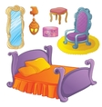 Furniture Set For Fairy Bedroom vector image