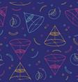 geometric seamless pattern school patterns vector image
