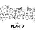icons of pot plants garden vector image